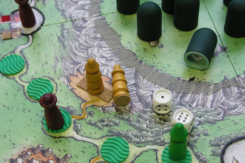Close-up van een spelbord.