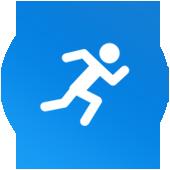 Icône d'une personne en train de courir.