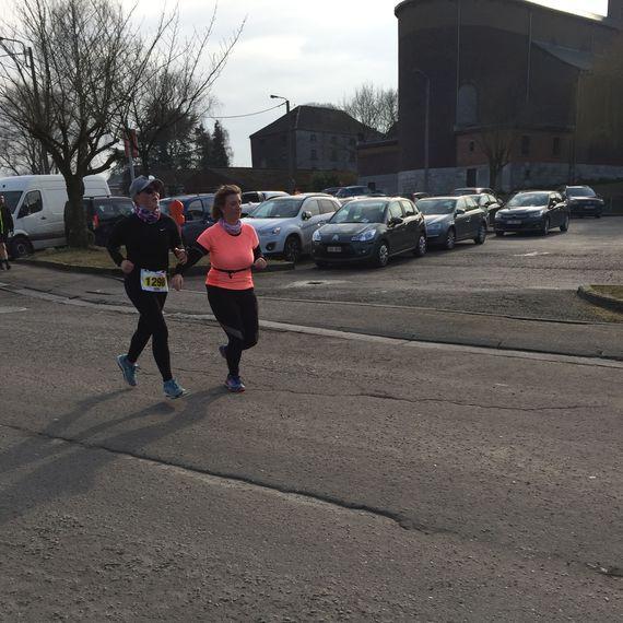Laurie court les 20 km de Bruxelles 2018